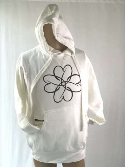 ONEKOR - WHITE HOODED SWEATSHIRT