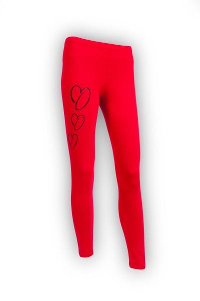 ONEKOR - Long leggins red 3 hearts